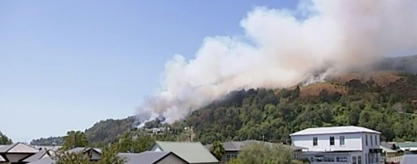 В Новой Зеландии из-за лесных пожаров пришлось эвакуировать тысячи людей