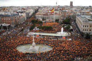 """В Мадриде 45 тысяч испанцев протестовали против """"мягкой политики"""" правительства в отношении Каталонии"""