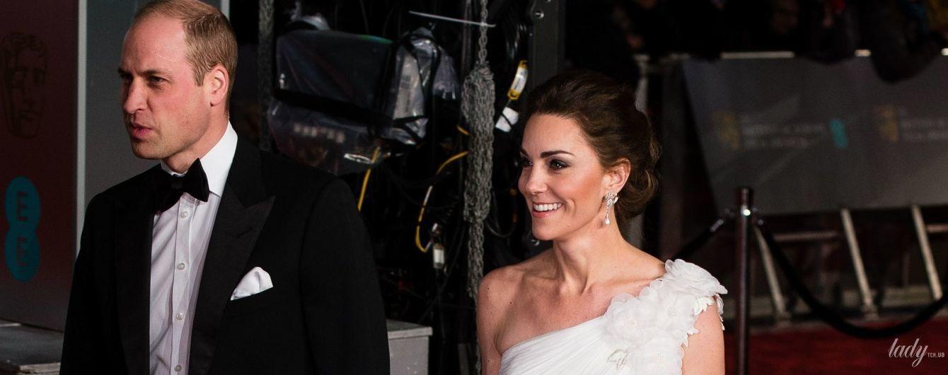 Герцогиня Кембриджская в роскошном платье Alexander McQueen блистала на церемонии BAFTA-2019