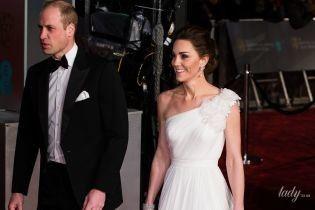 Герцогиня Кембриджська в розкішній сукні Alexander McQueen сяяла на церемонії BAFTA-2019