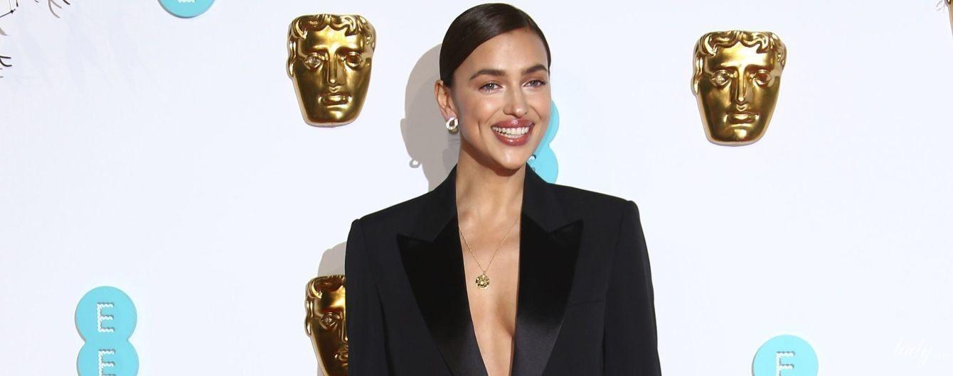 В костюме на голое тело: Ирина Шейк составила компанию Брэдли Куперу на церемонии BAFTA-2019