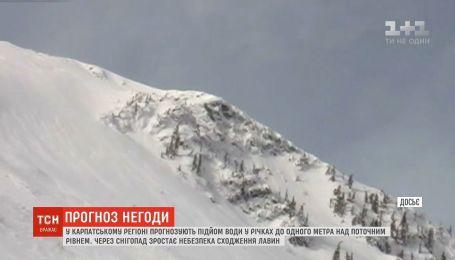 Гидрометцетр предупреждает об опасности схода лавин в Закарпатье