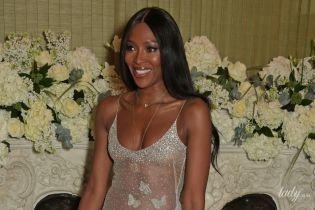 Майже гола: 48-річна Наомі Кемпбелл одягла на вечірку прозору сукню від Alexander McQueen