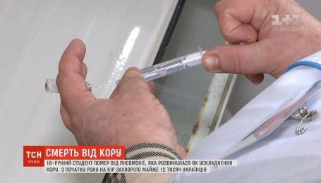 Понад 11 тисяч українців захворіли на кір від початку року