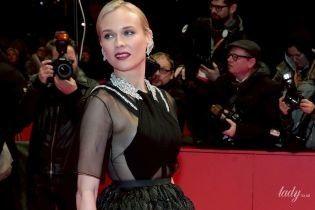 В прозрачном платье и на шпильках: Диана Крюгер представила фильм на кинофестивале в Берлине