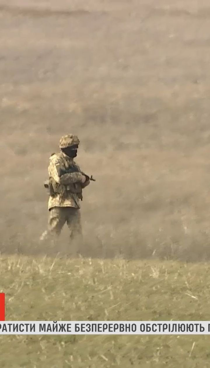 Вблизи Гнутово боевики почти непрерывно обстреливают украинские позиции