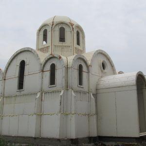 У Херсоні єпархія ПЦУ будує храм із пінопласту