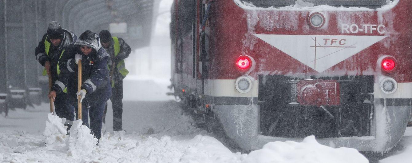Румынию накрыл снежный шторм сразу после внезапного потепления