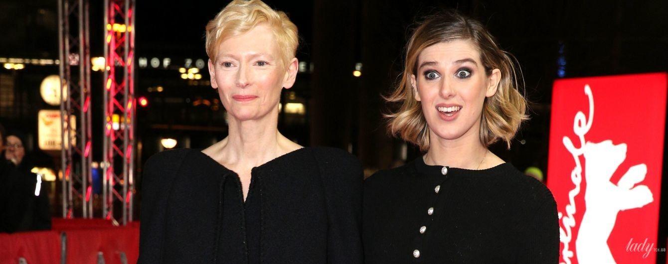Восходящая звезда: Тильда Суинтон со своей 21-летней дочерью появилась на красной дорожке в Берлине