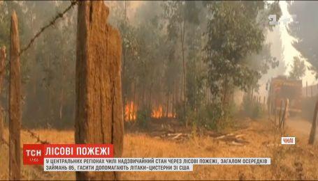 Чили в огне: в центральной части страны горят леса