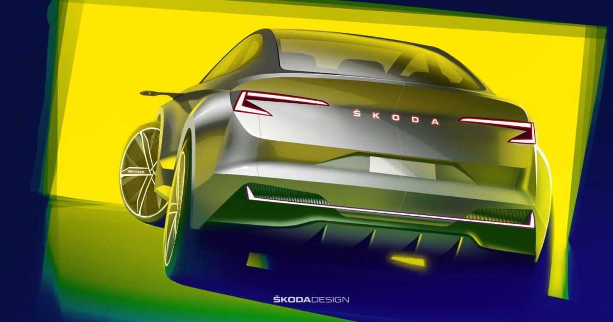 Электрическую новинку Skoda Vision iV засветили на эскизах