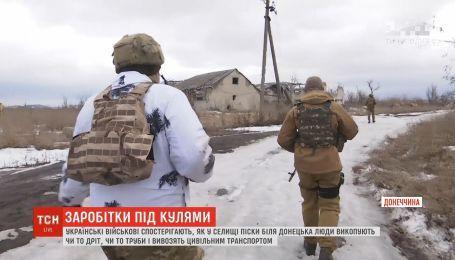 На Донеччині невідомі з боку бойовиків викопують та вивозять комунікації