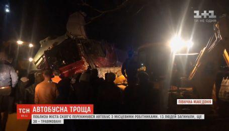 В Северной Македонии перевернулся автобус с местными рабочими