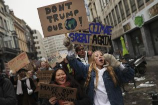 Бельгийские дети пропускают школу ради экологии