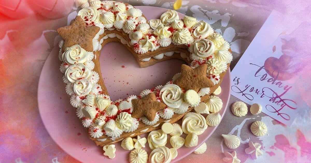 Торт-сердце на День святого Валентина