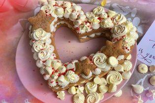Торт-серце на День святого Валентина