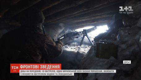 Фронтові зведення: бойовики з мінометів обстріляли Водяне та Лебединське