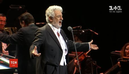 Легендарный Пласидо Доминго выступил вместе с украинским симфоническим оркестром в Киеве