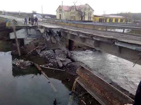 На Тернопільщині обвалився аварійний міст – дорожники звинувачують водіїв