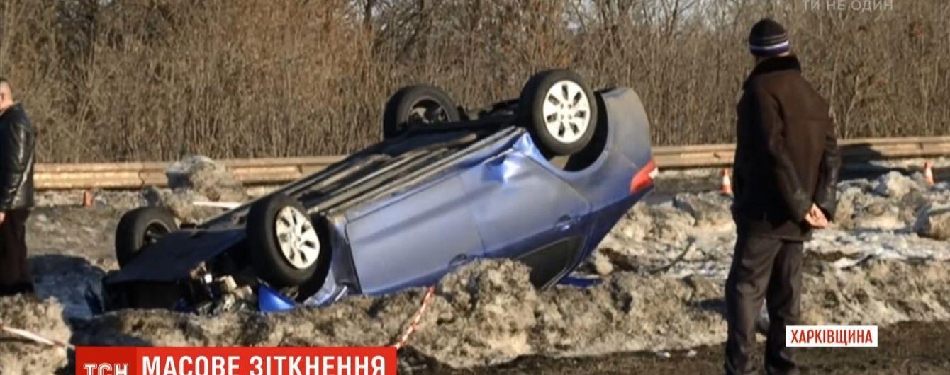 Подробности масштабного ДТП под Харьковом: женщину-пешехода сбила третья перевернутая машина