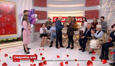 Зритель Сніданка сделал предложение любимой в прямом эфире