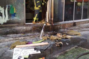В Киеве горел магазин Roshen