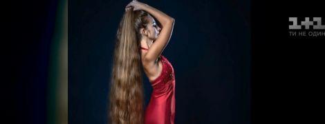 Одесситка отрастила волосы длиной почти два метра