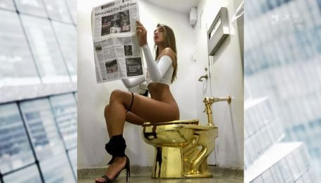 Удобно ли сидеть на золотом унитазе – супермодель Алина Байкова поделилась впечатлениями