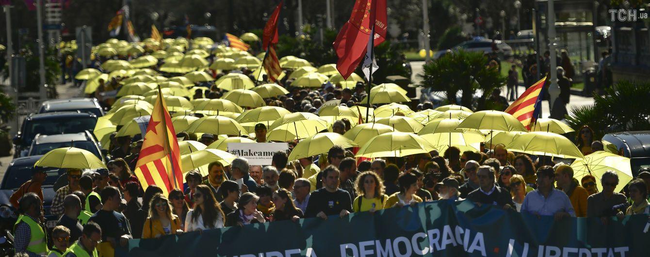 Масштабные протесты отрезали Каталонию от остальной Испании