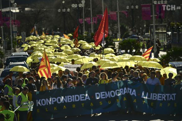 Протести у Європі, Каталонія