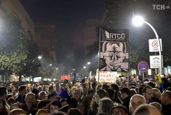 Протести у Європі, Чорногорія