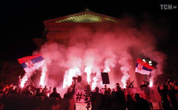 Протести у Європі, Сербія