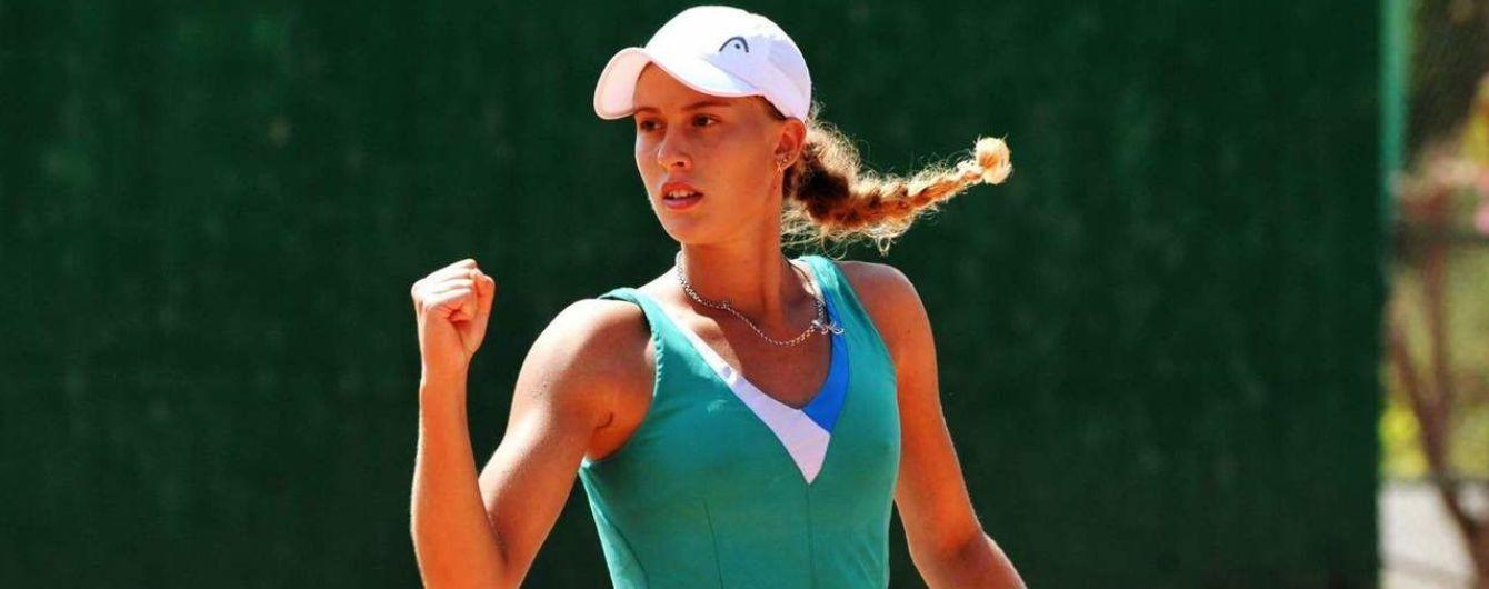 Юна українська тенісистка тріумфувала на змаганнях у Туреччині