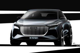 Audi показала тизер електричного кросовера Q4 e-tron