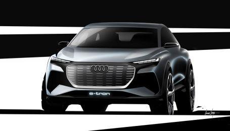 Audi показала тизер электрического кроссовера Q4 e-tron
