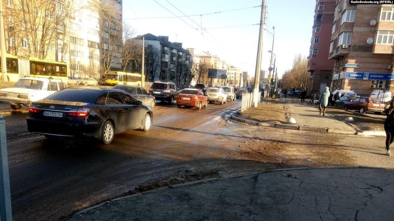 провал дороги, київ, севастопольська площа