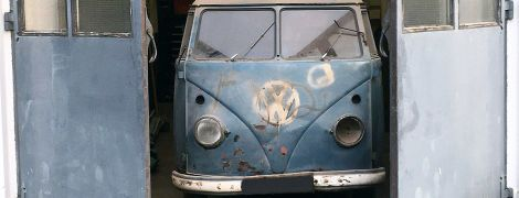 В Германии нашли фургон Volkswagen 1953 года с полицейским радаром