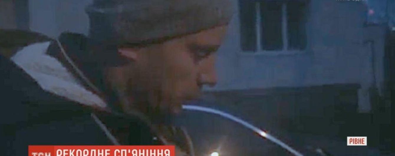 Ровенские копы поймали за рулем водителя со смертельной дозой алкоголя в крови