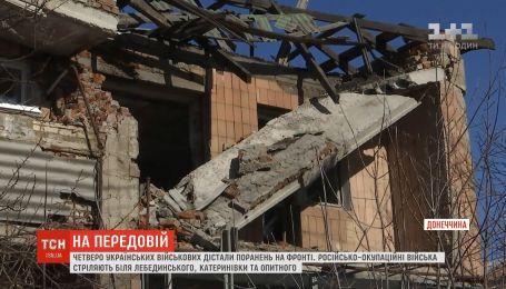 Возле Донецкого аэропорта оккупанты расстреливают наши позиции маскируя технику среди руин