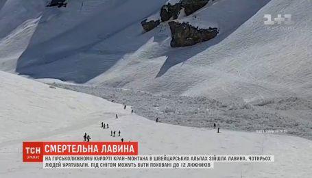 У швейцарських Альпах рятувальники шукають людей, які могли опинитися під сніговою лавиною