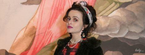 В причудливом образе: Хелена Бонэм Картер на Лондонской неделе моды