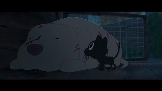 Pixar показала намальований від руки мультфільм про нелегку дружбу кота і пітбуля