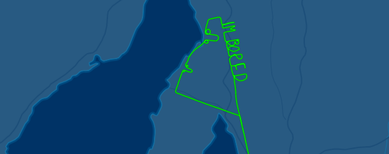 Австралійський пілот знудився під час польоту і намалював пеніси просто у повітрі