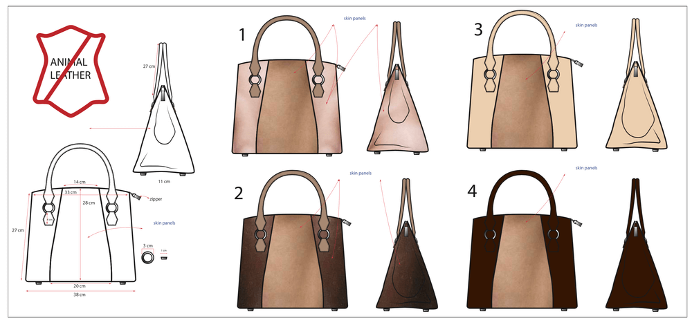 дизайн сумочки з ампутованої ноги
