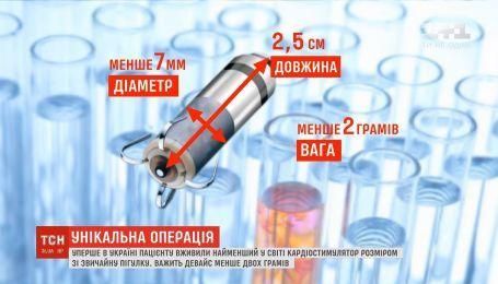 Впервые в Украине пациенту вживили самый маленький в мире кардиостимулятор