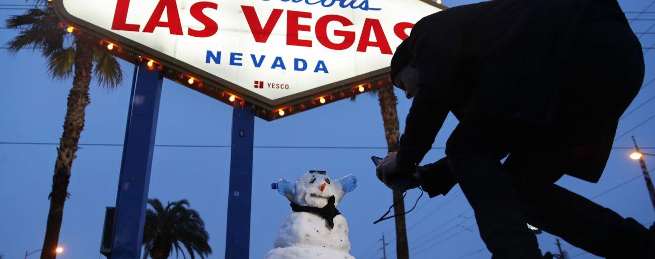 Город в пустыне США завалило снегом