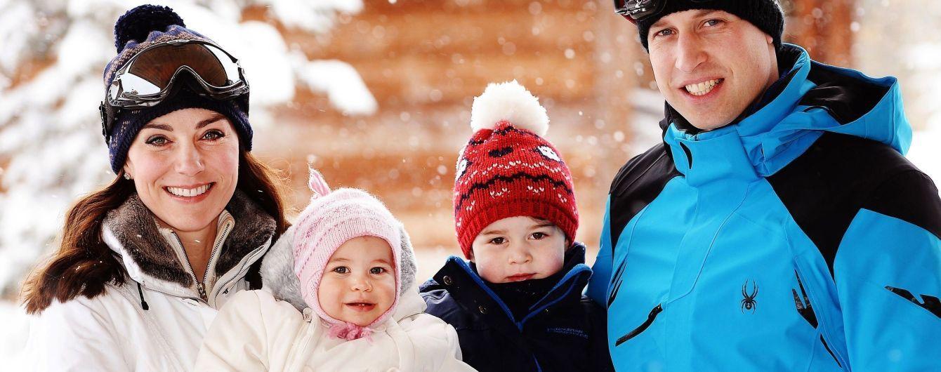 У відпустку з дітьми: герцог і герцогиня Кембриджські поїхали кататися на лижах