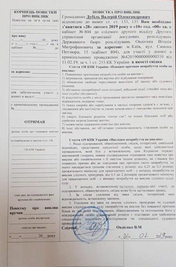 """glavcom.ua """"Батьківщина"""" Валерія Дубіля"""