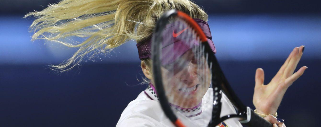 Свитолина драматично вылетела в полуфинале турнира в Дубае