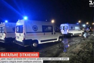 """Смертельное ДТП на Волыни: пьяный экс-полицейский на Mercedes """"пнул"""" такси под автобус"""